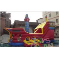 Wholesale Giant Red Pirate Ship Inflatable Slides Pirate Boat Design For Kids Amusement CE from china suppliers