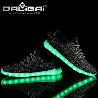 Wholesale Kids Adults Comfortable Sneaker LED Casual Shoes with Lights Rubber Outsole from china suppliers