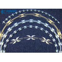 China Safety Flat Wrap Razor Wire Long Lifespan High Strength For Military Affairs on sale