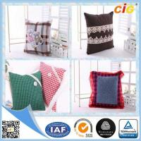 Wholesale Plain Natural Linen Cushion Cover / Chair Seat Pillow with Custom Color and Size from china suppliers