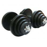 Wholesale Commercial Use  Rubber Coated Dumbbell10kg 15kg 20kg 25kg 30kg from china suppliers