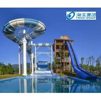 Wholesale Giant Boomerang Fiberglass Water Slides Ashland / DSM Resin , 18.75m Platform Height from china suppliers