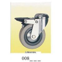 Quality Gray rubber Caster wheel top hole brake 008 for sale