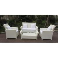 Buy cheap Resin White Rattan Outdoor Sofa Sets Discount Rattan Furniture All Weather from wholesalers