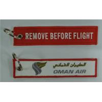Wholesale Oman Air Remove Before Flight Embroidery Keychain Personalized Gifts from china suppliers