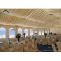 Wholesale Luxury Lining Decoration Large Event Tents With Aluminium Frame , Custom Canopy Tents from china suppliers