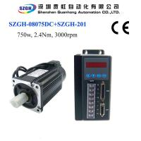 Buy cheap 750W 2.4nm 3000rpm Ac Servo Motor And Driver And Amplifier And Cables For Total Solution 220v from wholesalers