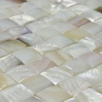 Wholesale Pearl Mosaics, Made with Natural Shell, Joints Can be Offered Based on the Clients' Need from china suppliers
