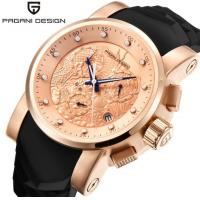 China PAGANI DESIGN Men Genuine Leather Strap Outdoor Leisure Sport Wrist Watches Fashion Quartz Watches PD-1621 for sale
