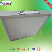 Buy cheap Mini Pleat Medium Efficiency Panel Air Filters Alumium Frame For Clean Room from wholesalers