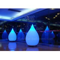 Wholesale 1.5m Lighting Inflatable Balloon Water Drop 210D Polyester Cloth For Decoration from china suppliers