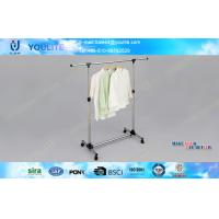 Wholesale Steel Movable Portable Clothes Rack Heavy Duty  for Quilt / Towel Space Saving from china suppliers