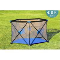 Wholesale Fabric Mesh Large Playpens For Babies / Collapsible Baby Fence Play Area from china suppliers