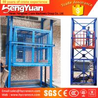 Wholesale factory supply guide rail chain cargo lift from china suppliers