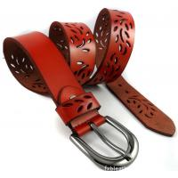 Wholesale assorted color genuine leather lady hollow-out waist belt from china suppliers