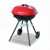 Wholesale Charcoal BBQ Grill with Four Legs, Two Wheels for Easy Moving, Made of Iron from china suppliers