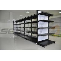Wholesale Double Sided Metal Supermarket Display Racks , Supermarket Gondola Shelving from china suppliers