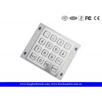 Wholesale 16 Flat Keys Industrial Numeric Keypad Rear Panel Mount Brushed 4 x 4 Matrix Metal from china suppliers