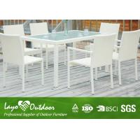 Wholesale Aluminium Outdoor Dining Settings White 8 Person Patio Dining Set Moisture - Proof Feature from china suppliers