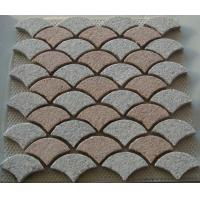 Wholesale Interlocking Pink and White Granite Paving Stone, Fanshaped Granite Pavers from china suppliers