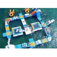 Wholesale Theme Water Inflatable Amusement Parks Aqua Park Slides 7 - 10 Years Lifespan from china suppliers