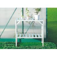 Wholesale Sunor Eco Friendly Greenhouse Spares and Accessories / Silver 2 Tier Metal Flower Shelf from china suppliers