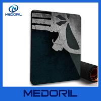 Wholesale Customized non-slip backing rubber material mouse pad stain resistant cloth top mouse pads from china suppliers
