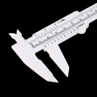 Wholesale Precision Eyebrow Shaping Tools Plastic Measuring Vernier Slide Caliper from china suppliers