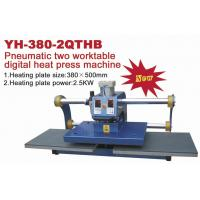 Wholesale Pneumatic Two Plate Workable Commercial Heat Press Equipment 2500W from china suppliers