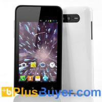 Wholesale Hail - 4 Inch Android Phone (1GHz Broadcom CPU, 800x480, 4GB Memory, White) from china suppliers