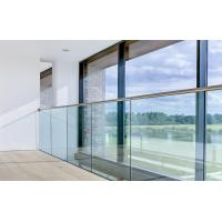 Wholesale U Base Channel Glass Railing for Staircase / Deck Intalled Design with Top Rail from china suppliers
