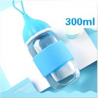 Wholesale Blue BPA Free Baby Bottles , Safe Baby Feeding Bottles With Silicone Lid from china suppliers