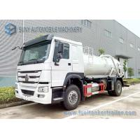 Wholesale SINOTRUK HOWO Sewage Suction Tanker 4X2 Truck 12000L Vacuum Tank from china suppliers