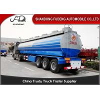 Wholesale Crude Oil Tank Semi Trailer Fuel / petroleum 50000 liters Steel Petro Tanker Semi Trailer from china suppliers