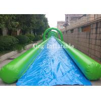 Wholesale City Outdoor Giant PVC Inflatable Slip N Slide / Water Slide 100m For Adults from china suppliers
