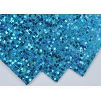 Wholesale Light Blue Sparkle Glitter Paper , Wall Decor Color Custom Glitter Paper from china suppliers