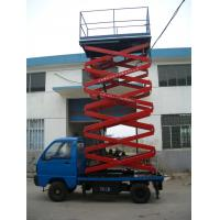 Wholesale Stable Hydraulic Elevating Platform , Steel Material Truck Mounted Scissor Lift from china suppliers