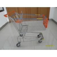 Wholesale 150L Metal Wire Shopping Trolley , Swivel TPE Casters Supermarket Shopping Trolley from china suppliers