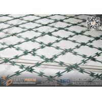 green color powder coated welded razor mesh