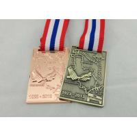 Wholesale Zinc Alloy Ribbon Medals 3d , Antique Brass Plating For Memorial from china suppliers