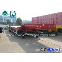 Wholesale SINOTRUK HUAWIN 3 Axles Semi Low Bed Trailer Extendable High Tensile Steel Q345B from china suppliers