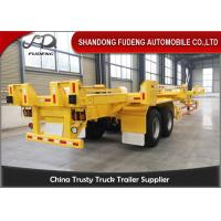 Wholesale FUWA Axles 40ft skeletal chassis container trailer 40 tonnes port trucks terminal trailers from china suppliers