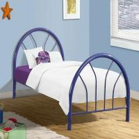 Wholesale Fun Modern metal frame bed, attractive design with color customized from china suppliers