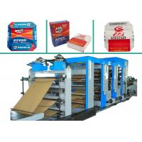 Quality 4 Colors Printing Multiwall Paper Bags Making Machine PLC Control Paper Bag Machinery for sale