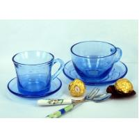 Wholesale Hotel Blue Clear Glass Coffee Mugs / Painting, Frosty, Engraving Cup from china suppliers