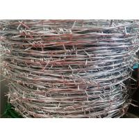 Wholesale 12 Ga 4 Point Stretching Security Barbed Wire / Galvanized Steel Bulk Barbed Wire from china suppliers