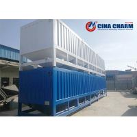 China Portable 50T Horizontal Fly Ash Cement Storage Silo , Steel Cement Silo on sale