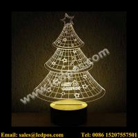 Wholesale 3D Christmas Tree Visual Acrylic LED USB Table Light from china suppliers