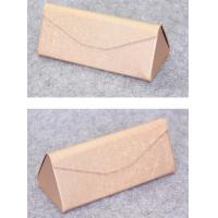 Wholesale Luxury Eyewear Box Leather Retro Glasses Case , Folding Eyeglass Case from china suppliers