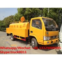 Wholesale High quality and competitive price 3,000Liters high pressure water cleaning vehicle for sale, 3m3 sewer cleaning truck from china suppliers